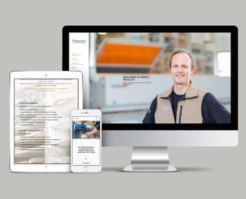 Schreinerei Fröhlich, Webdesign, Loftagentur