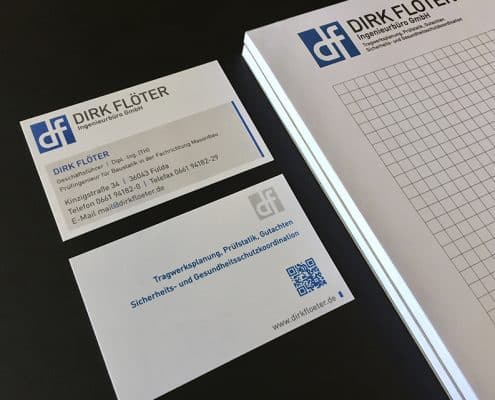 Dirk Floeter Ingenieurbuero - Logo, Corporate Design, Gerüstbanner - LOFTAGENTUR