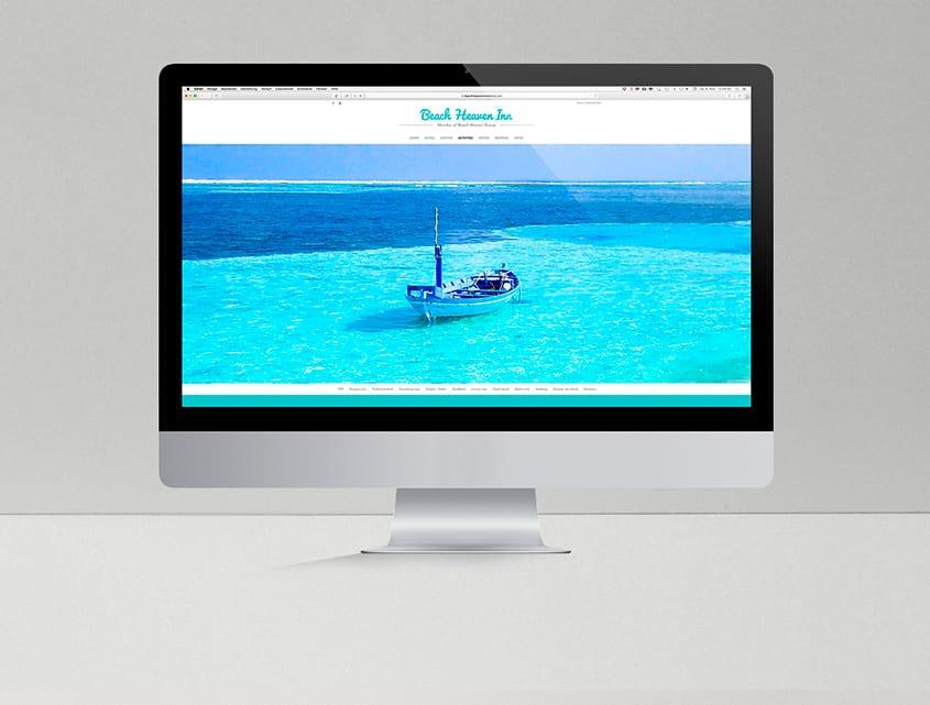 Webdesign - Beach Heaven Inn - Gästehaus auf den Malediven