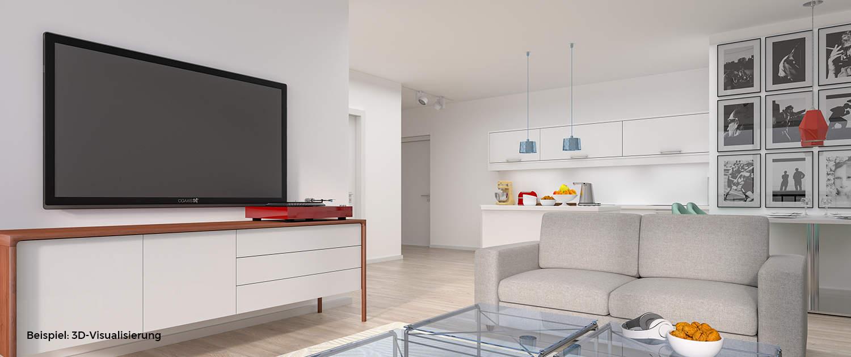 Projekt Haimbach Gärten - Weiße Stadt Fulda - 3D-Visualisierung - Immobilienmarketing