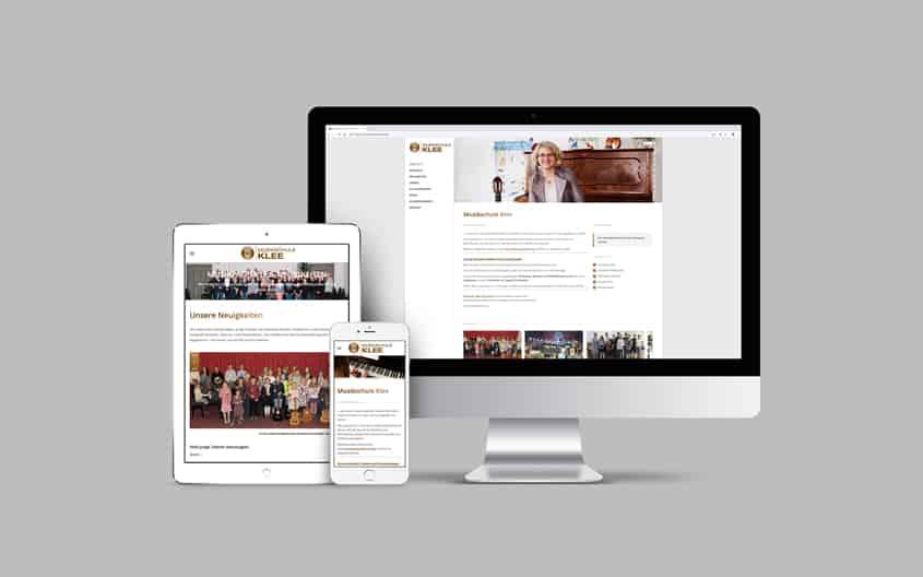 Webdesign Internetseite Musikschule Klee aus Fulda-Petersberg