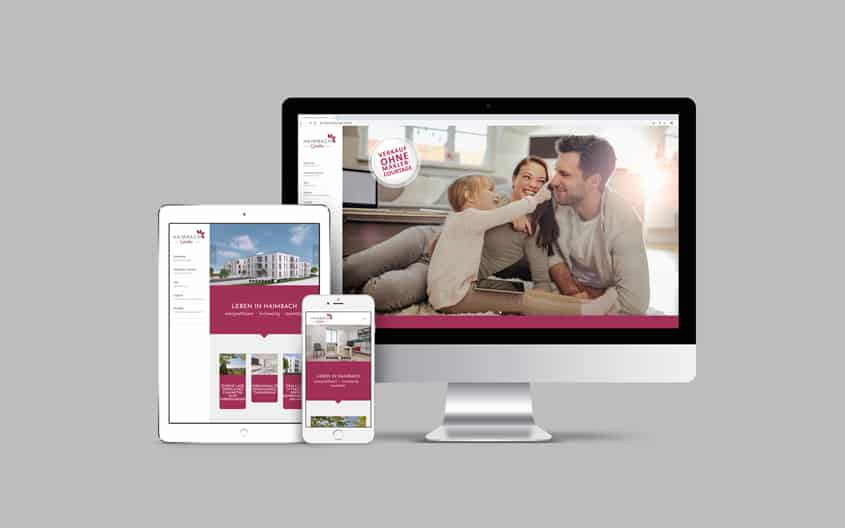Haimbach Gärten - Webdesign - Immobilienmarketing