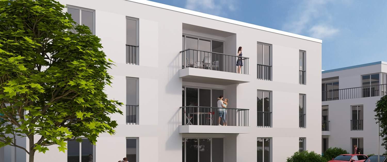 Haimbach Gärten - Weisse Stadt Fulda - 3D-Visualisierung - Immobilienmarketing
