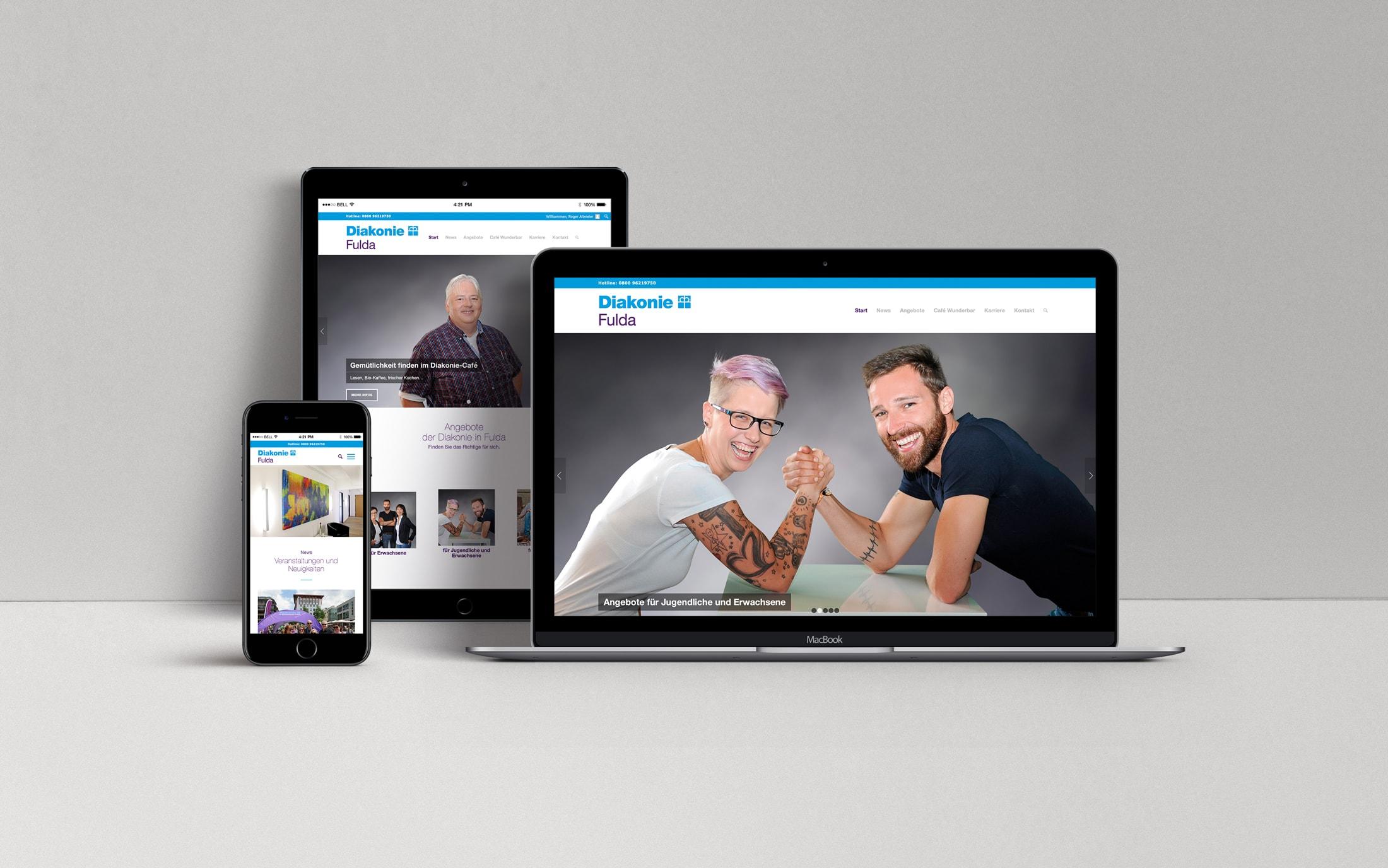Webdesign Fulda - Diakonie Fulda - Loftagentur